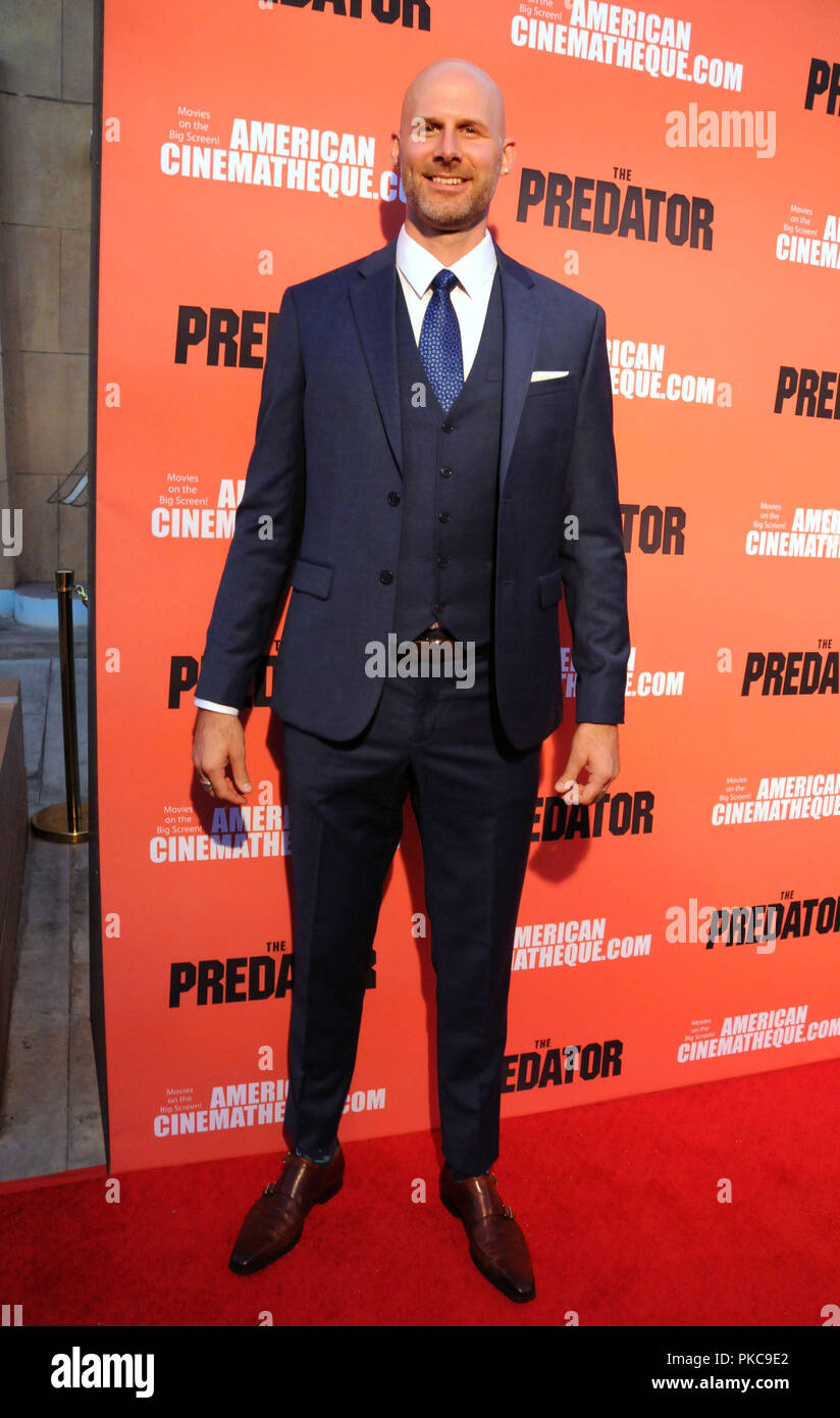 Hollywood, California, USA. 12th Sept 2018. Actor Kyle Strauts/stuntman Kyle Strauts attends 20th Century Fox's 'The Predator' Special Screening Event on September 12, 2018 at The Egyptian Theatre in Hollywood, California. Photo by Barry King/Alamy Live News - Stock Image