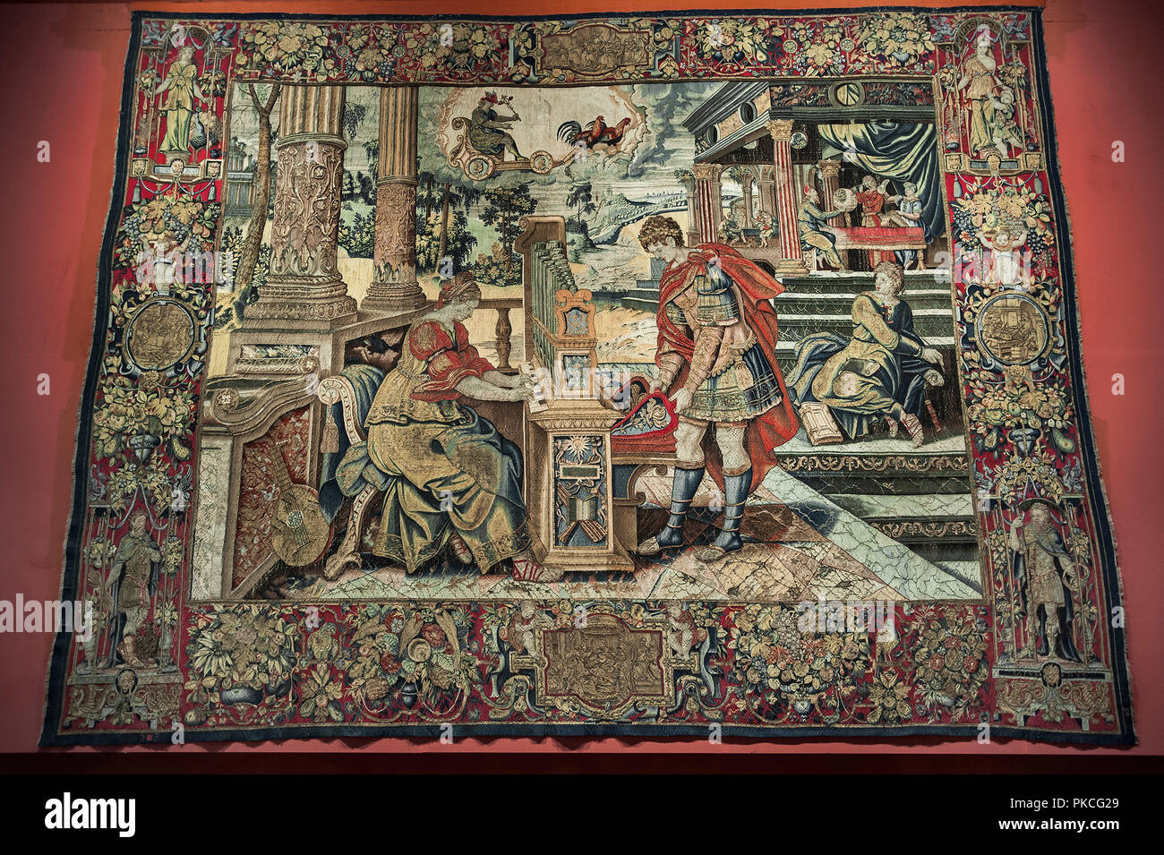Tapestry, The influence of Mercury on the work of the people, Brussels around 1550/60, National Museum, Mu? Nchen, Upper Bavaria - Stock Image