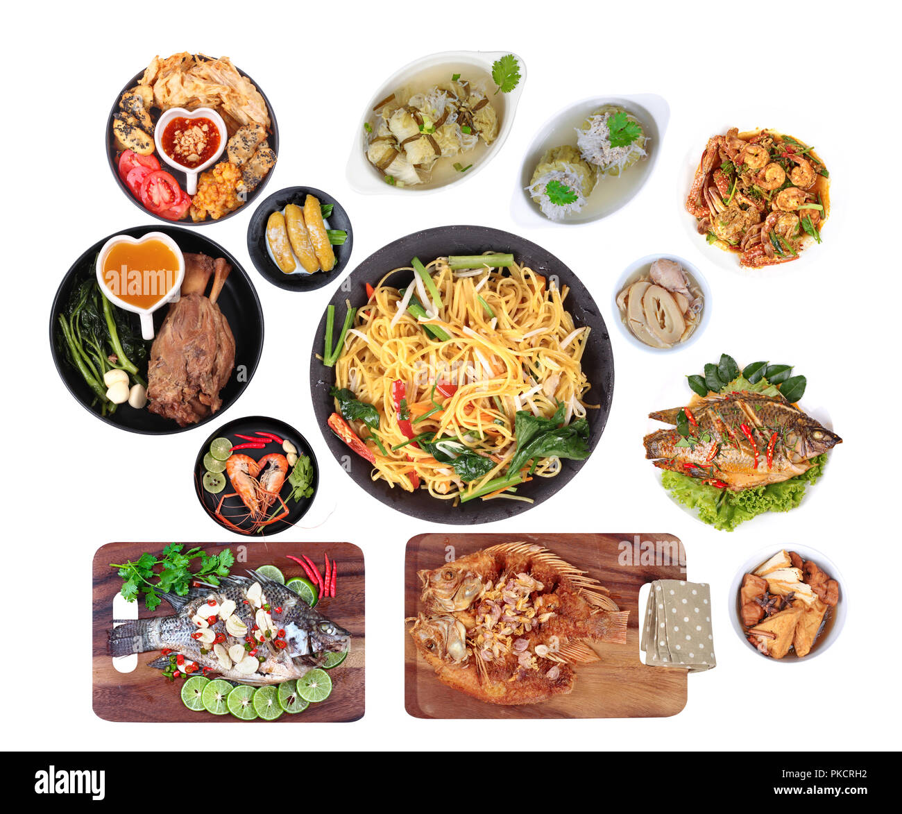 Food To Respect God Of Fortune In Chinese New Year Such As Fish