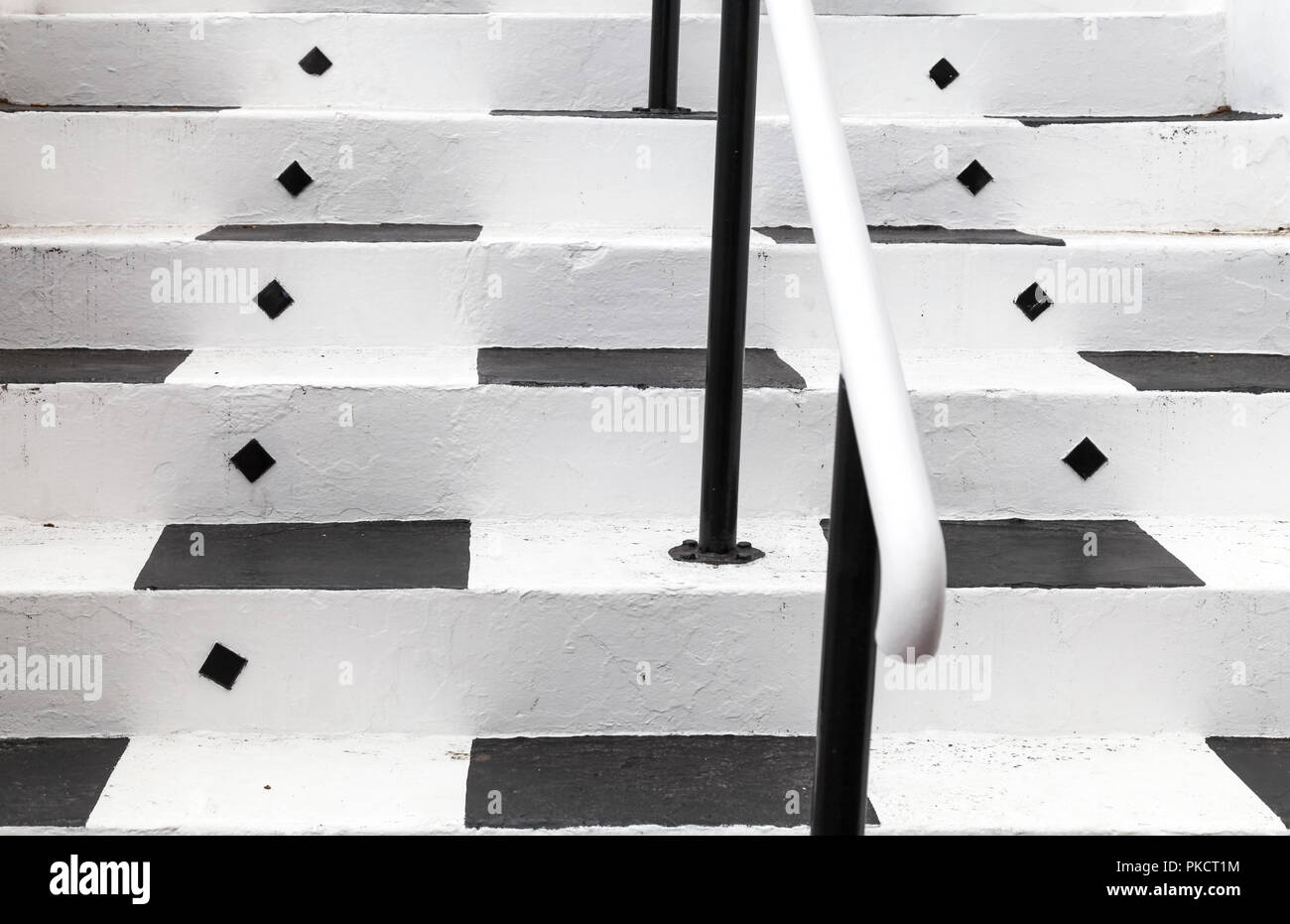 Cape Town South Africa Close Up Of Black And White Painted Steps