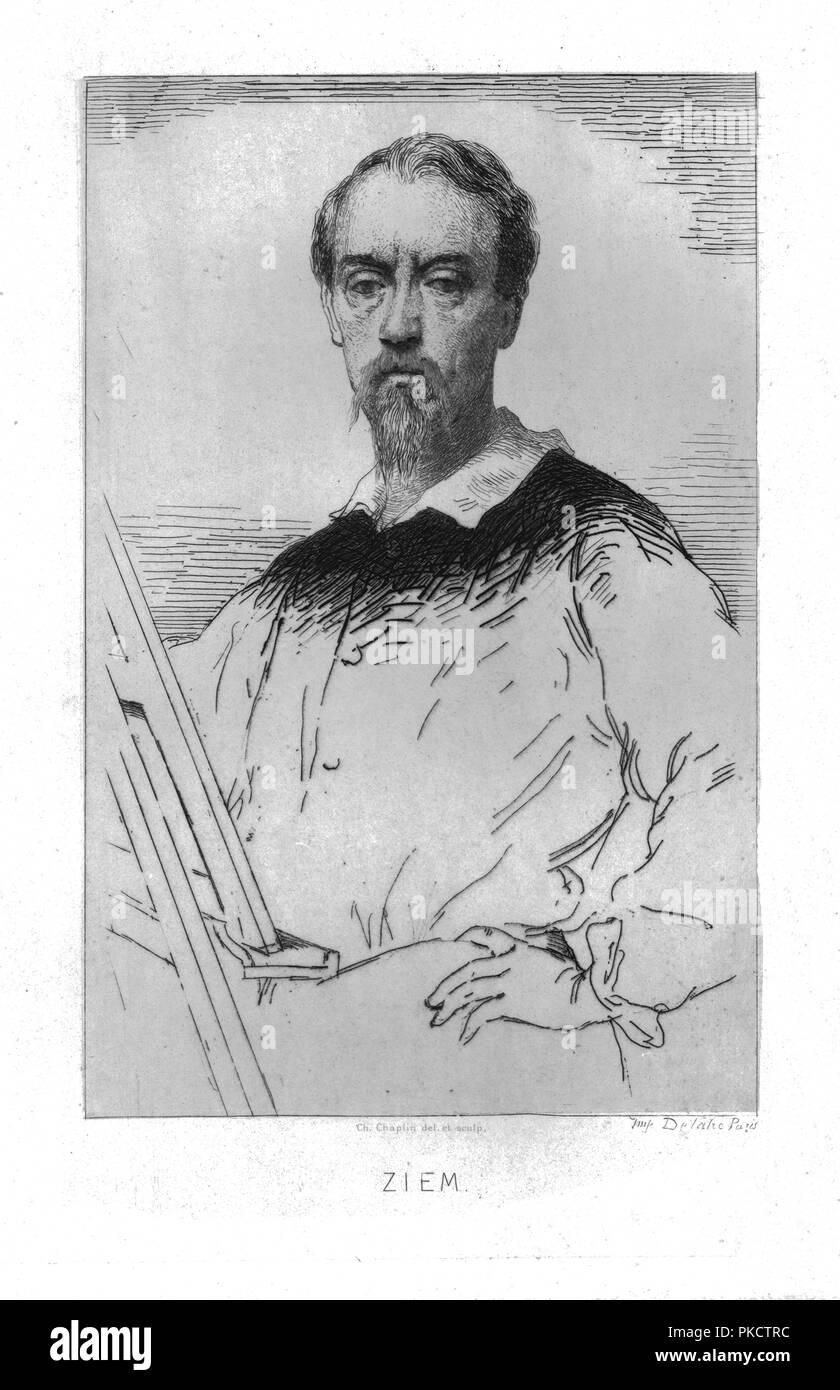 'Ziem', c1869. Portrait of French artist Felix Ziem (1821-1911) who was a painter of the Barbizon School. - Stock Image