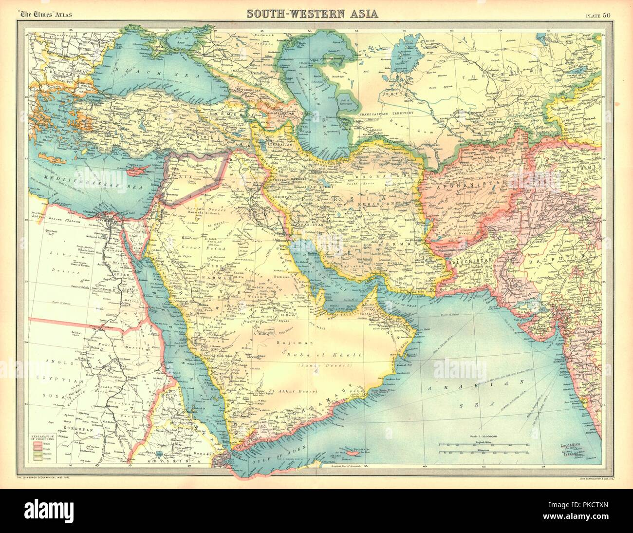 Political Map Of South Western Asia Map Of The Near And Middle East