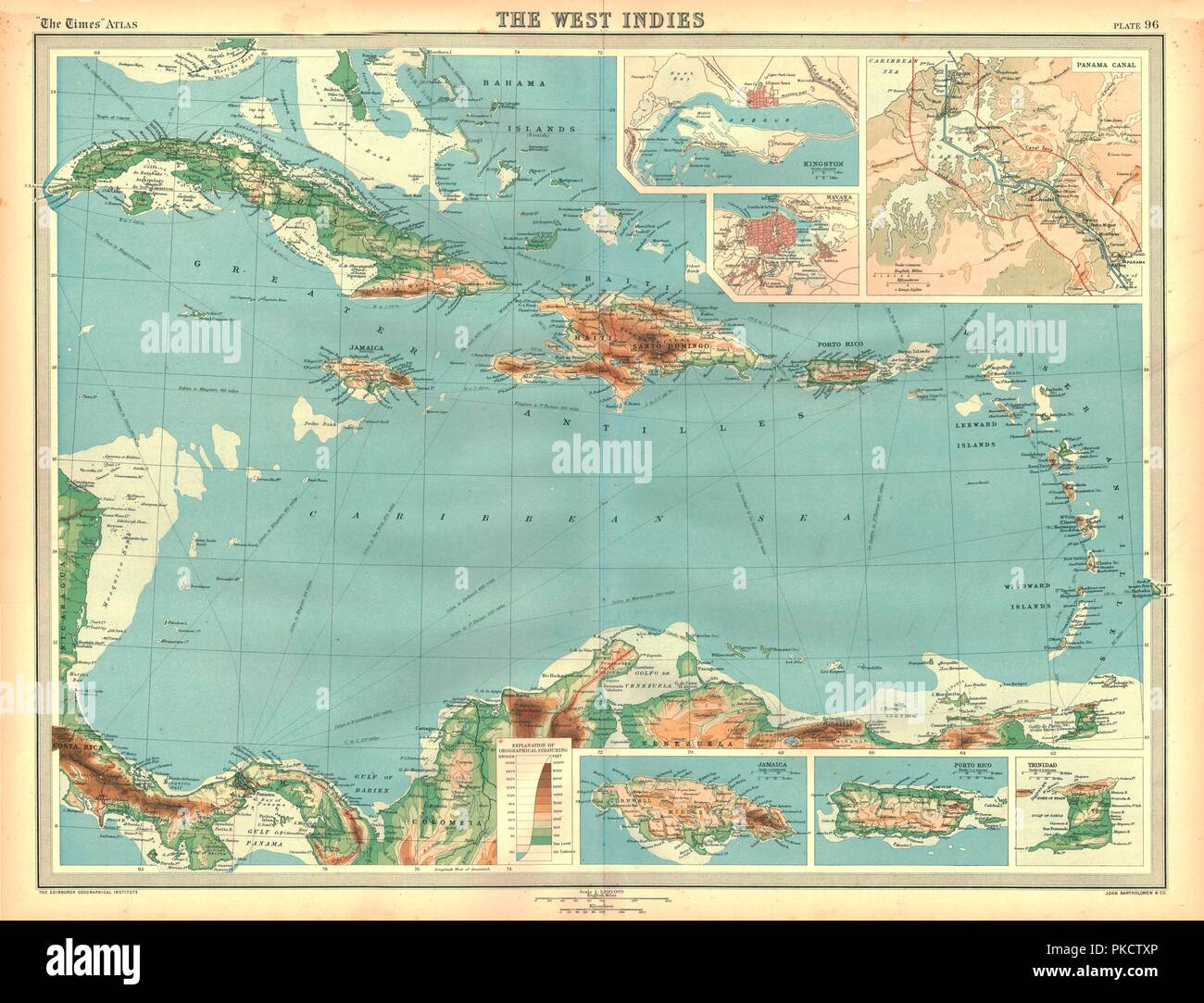 West Indies Map Stock Photos & West Indies Map Stock Images ...