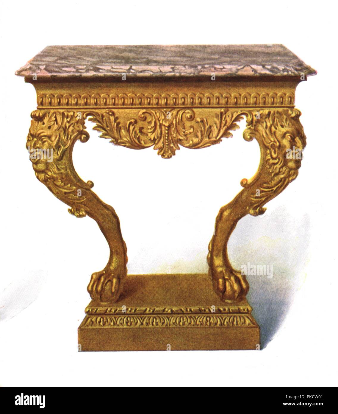 Gilt Console Table, 1906. Print From A History Of English Furniture, The