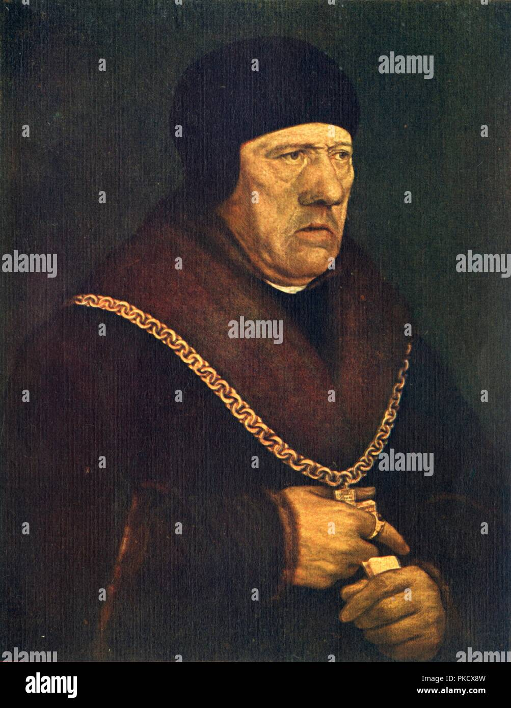 'Sir Henry Wyatt', c1537, (1909). Artist: Hans Holbein the Younger. - Stock Image