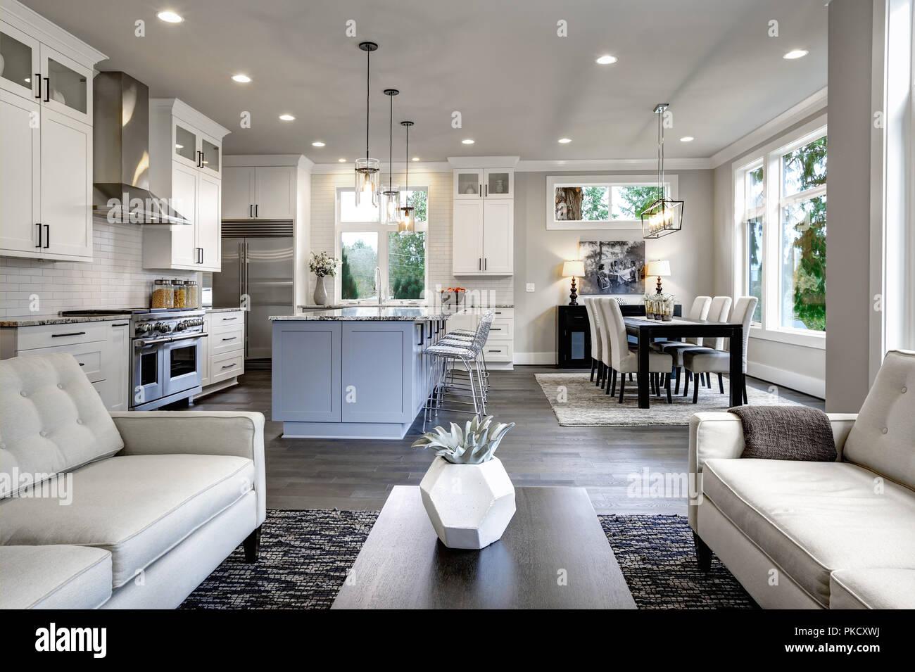 Luxurious home interior in Bellevue, WA - Stock Image