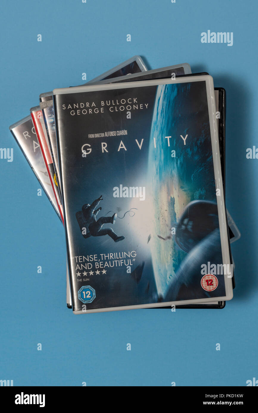 DVD of the movie 'Gravity' in a case with artwork. - Stock Image