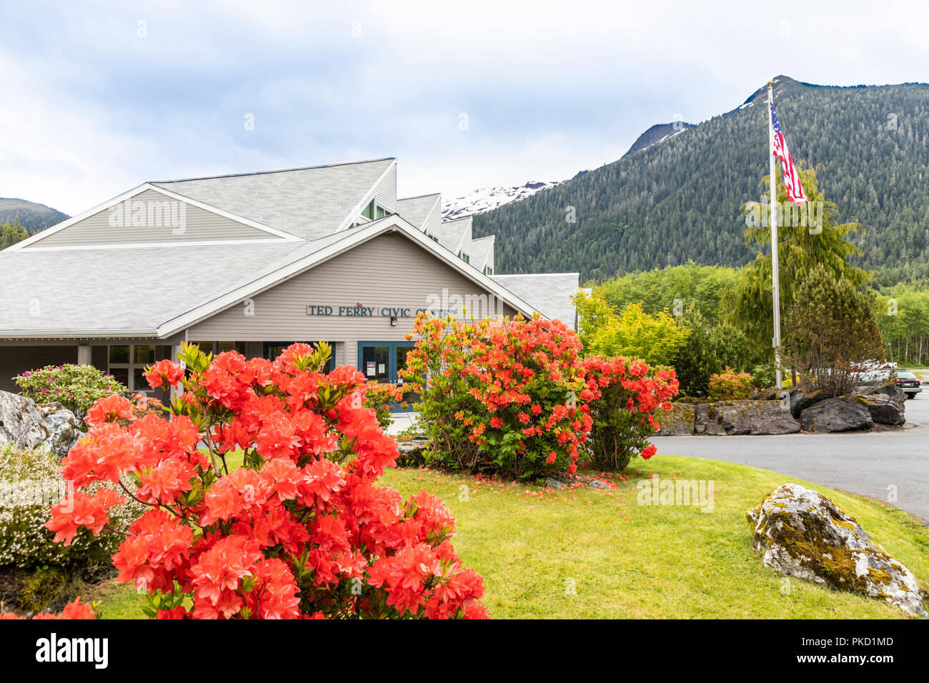 The Ted Ferry Civic Center in Ketchikan, Alaska USA - Stock Image