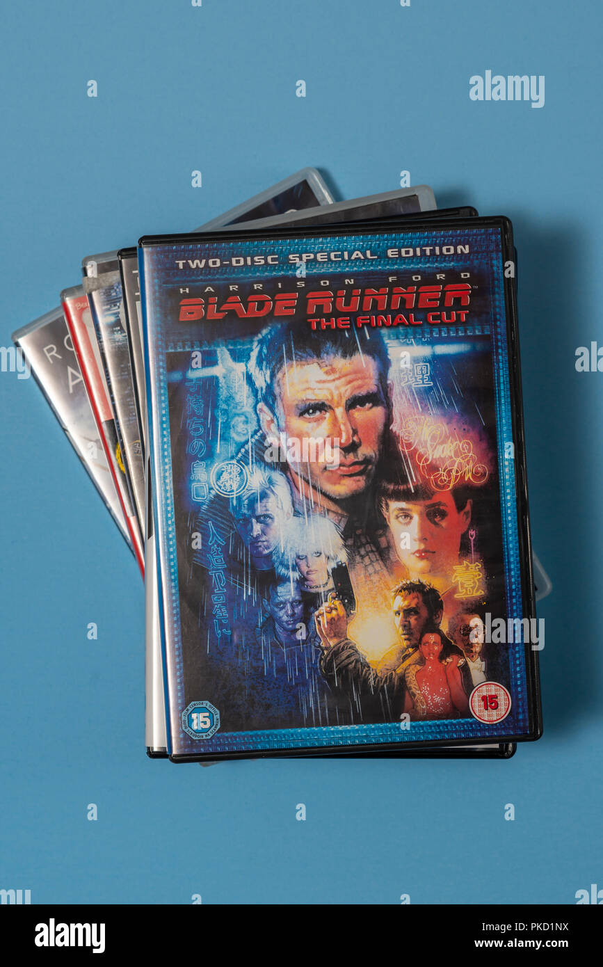 DVD of the movie 'Blade Runner' in a case with artwork. - Stock Image