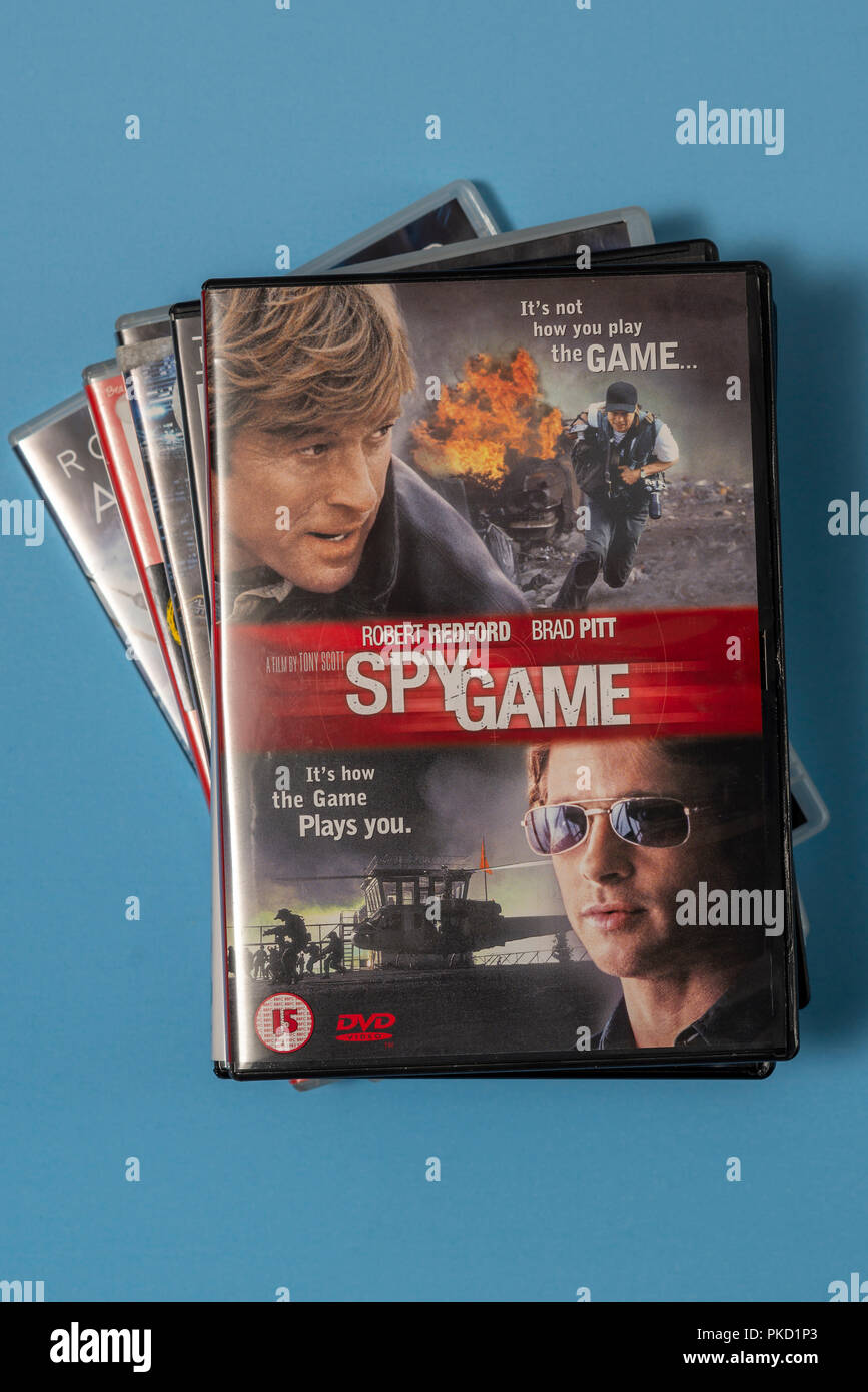Dvd Of The Movie Spy Game With Robert Redford And Brad Pitt In A Case With Artwork Stock Photo Alamy