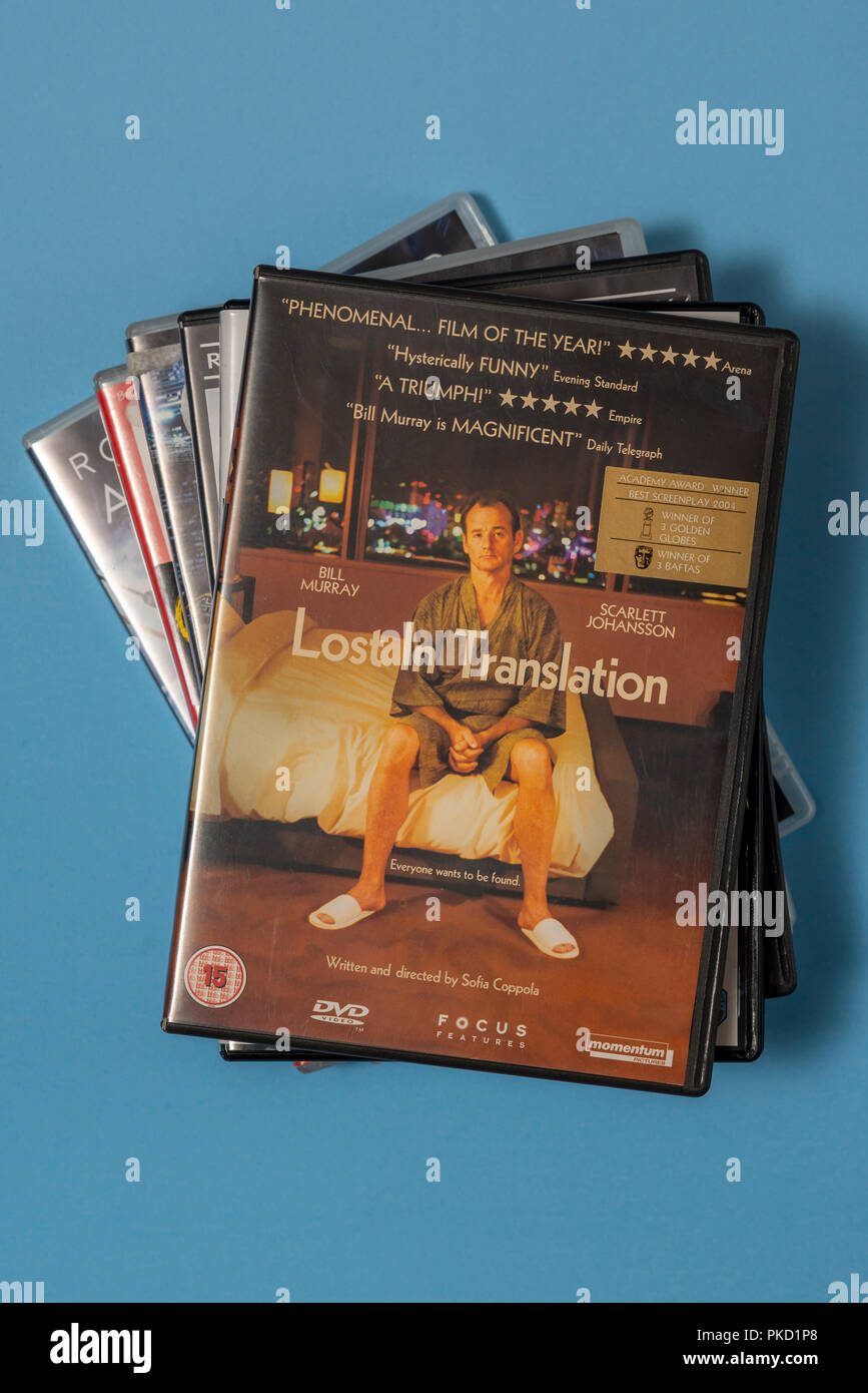 DVD of the movie 'Lost in Translation' in a case with artwork. - Stock Image
