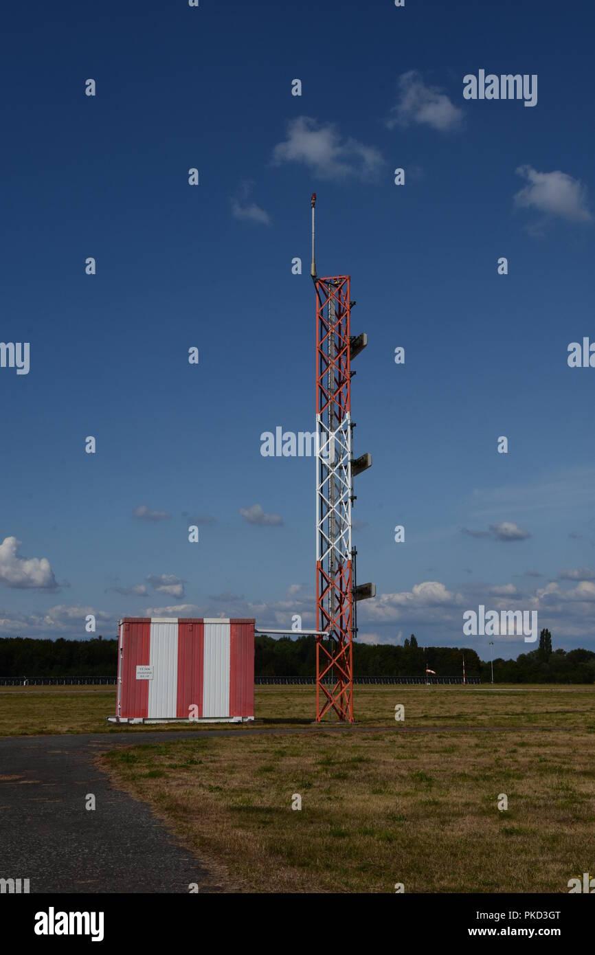 System for precision approach and landing aircraft Instrument Landing System (ILS), Czech Republic, 2018. (CTK Photo/Rostislav Kalousek) - Stock Image