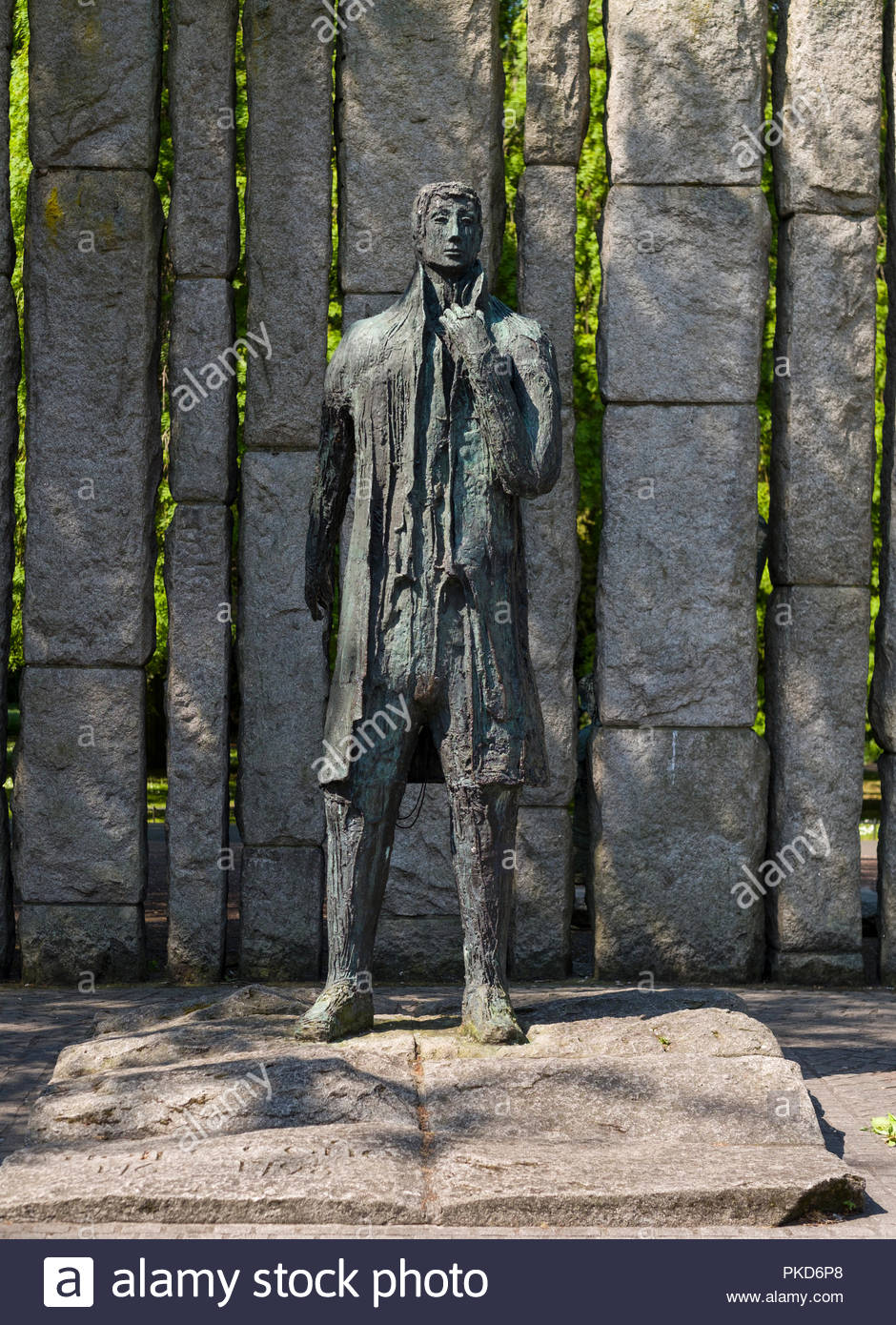 Wolfe Tone Sculpture by Edward Delaney, Saint Stephen's Green Park, Dublin, Leinster, Ireland - Stock Image