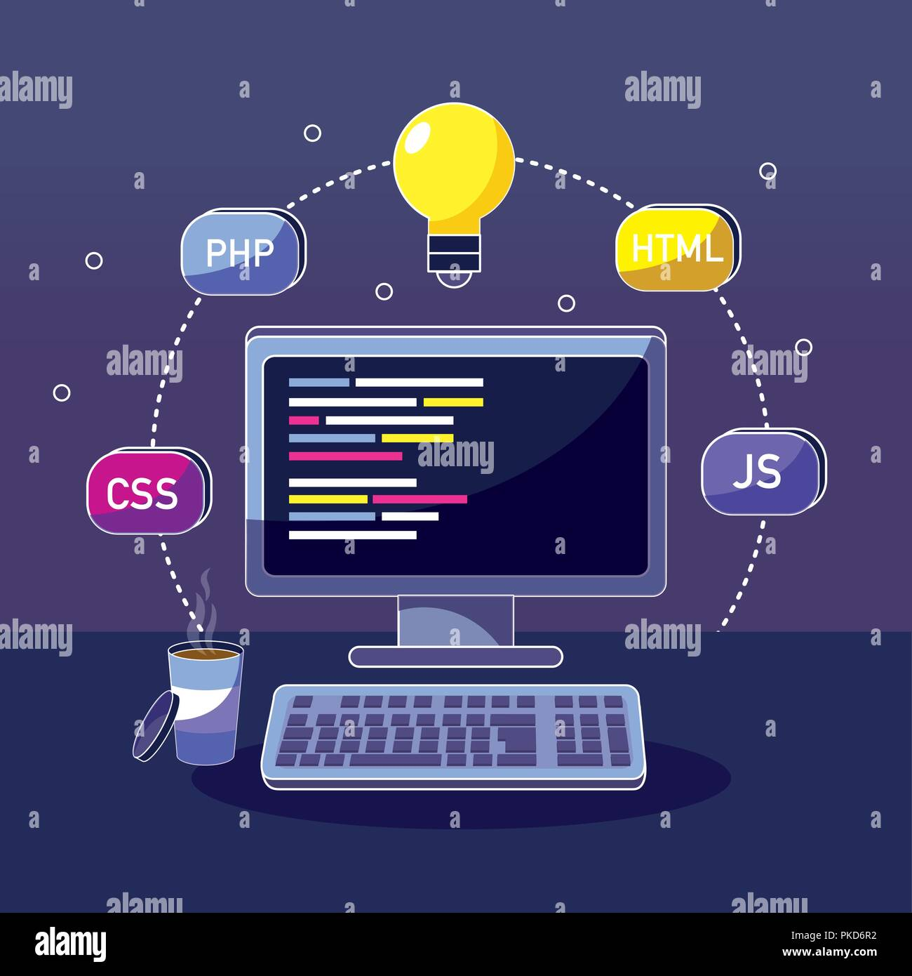 Program coding concept - Stock Image