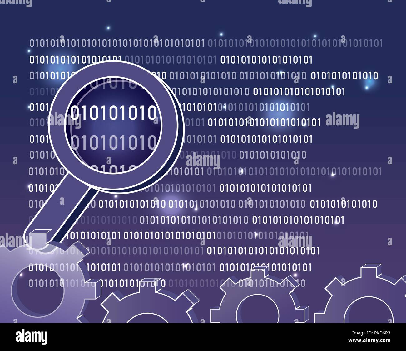 Binary code background - Stock Vector