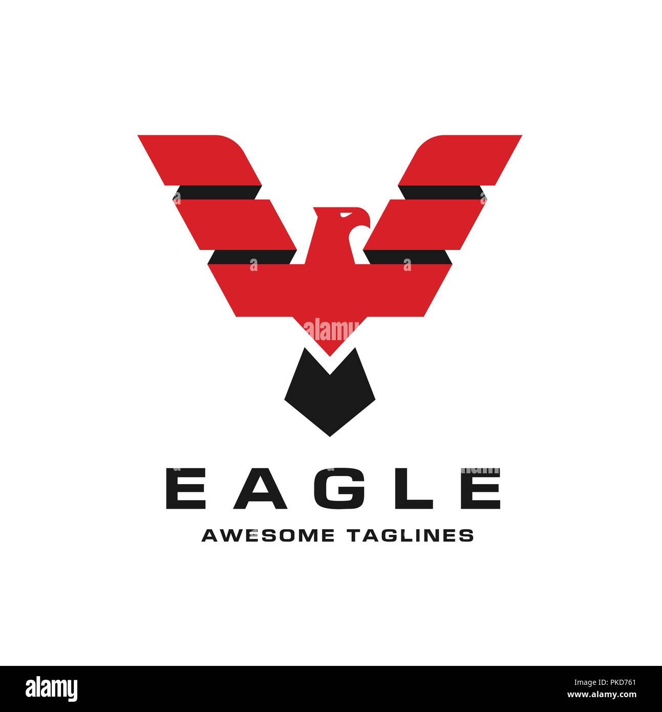 Eagle head logo Template, Hawk mascot graphic, bald eagle