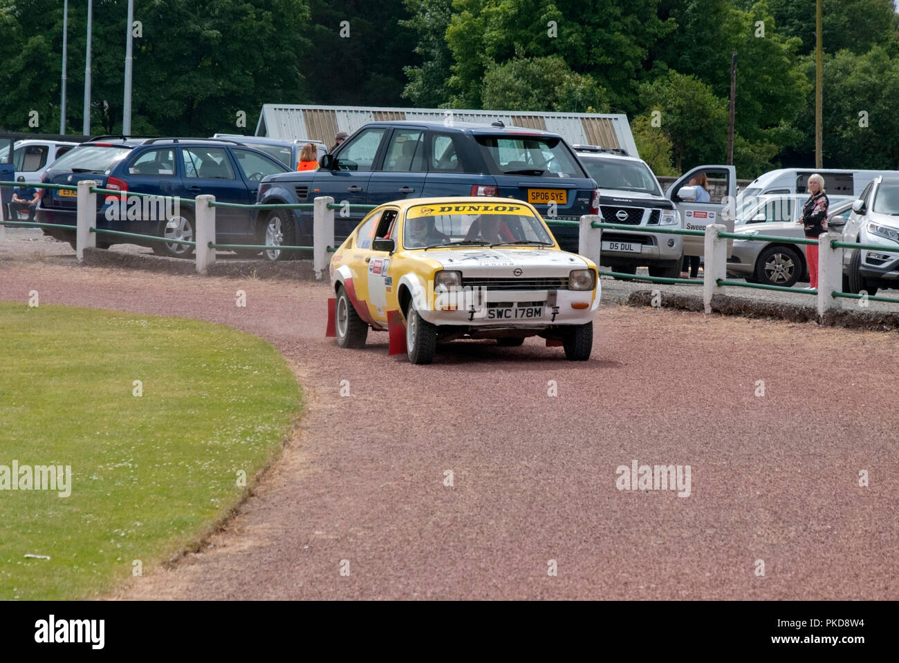 The 1973 Yellow And White Opel Kadett C Of John Brownie Argyll Rally Dunoon 2018 Front Right Offside Driver Side View Of 1973 Yellow And White Rally P Stock Photo Alamy