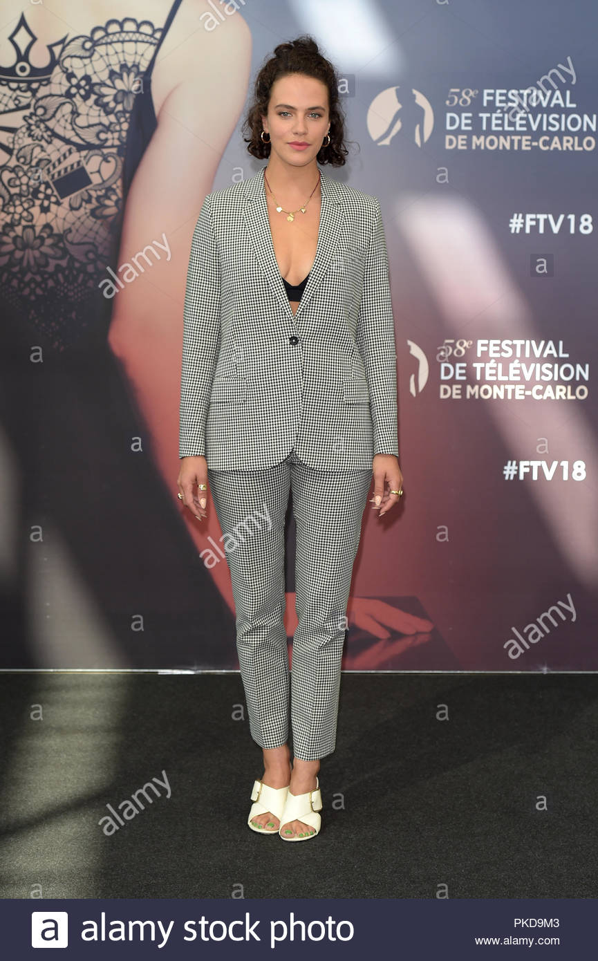 Jessica Brown Findlay 58 monte-carlo television festival, monte carlo 19-06-2018 - Stock Image