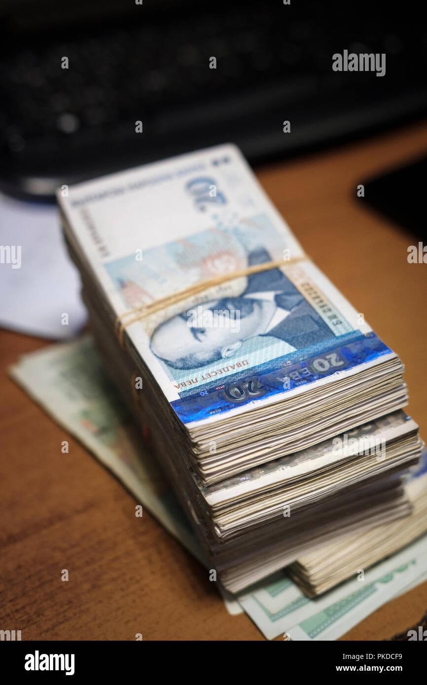 Bulgarian money-cash. - Stock Image