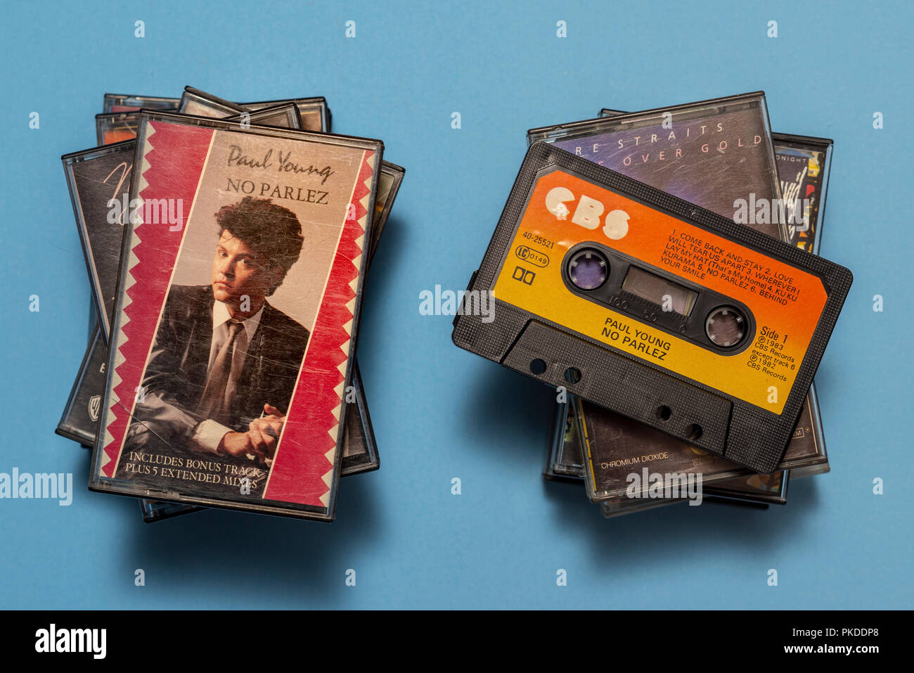compact audio cassette of Paul Young, No Parlez album with art work. - Stock Image