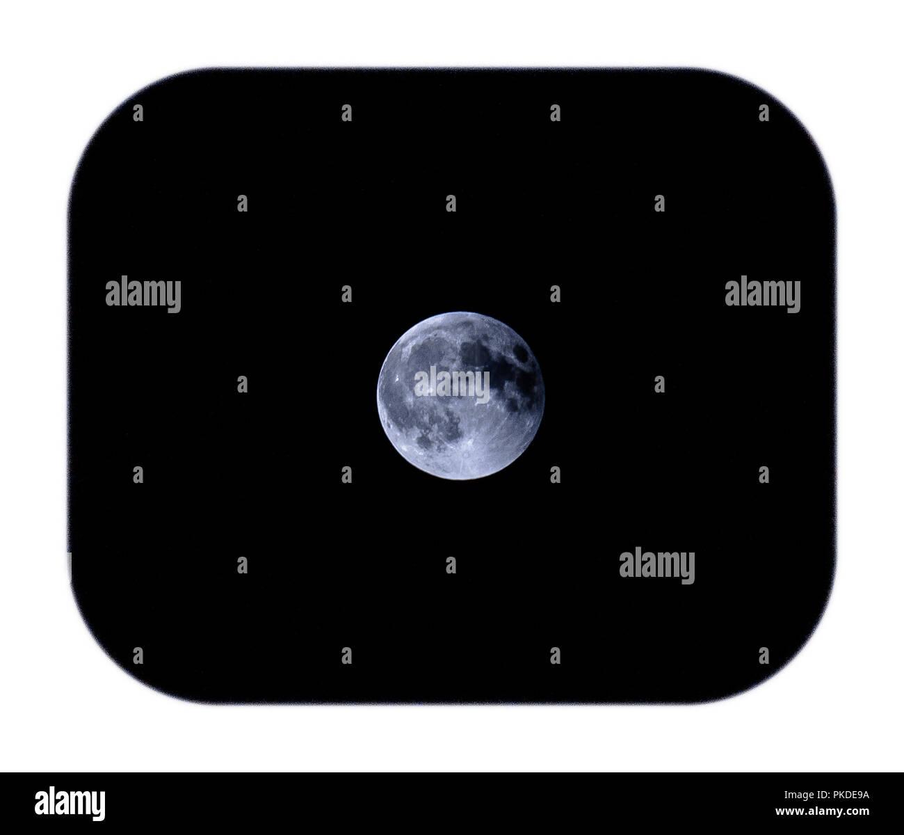 moon shots  of full moon period eclips shots - Stock Image