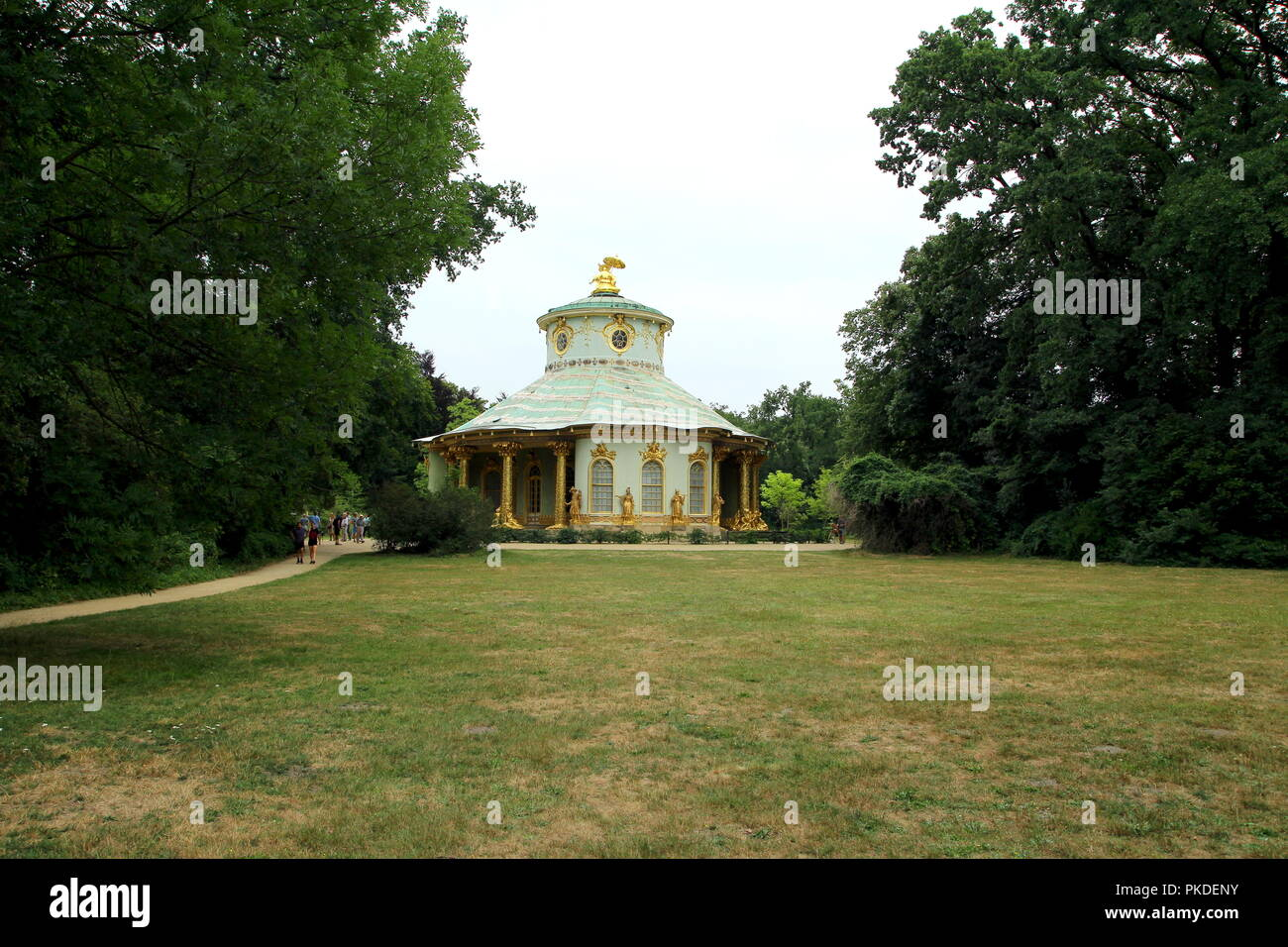 Chinese Tea House in Sanssouci Park, Potsdam, Germany. - Stock Image