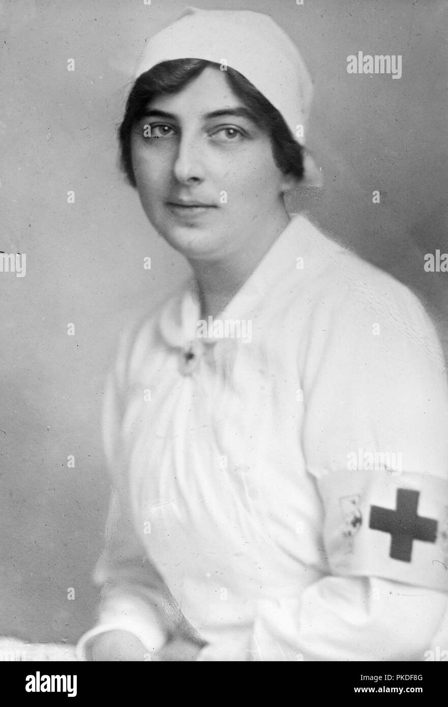 Countess Forgach Ilona von Rosty, Countess Forgach, served as a representative of the Hungarian Red Cross during World War I. - Stock Image