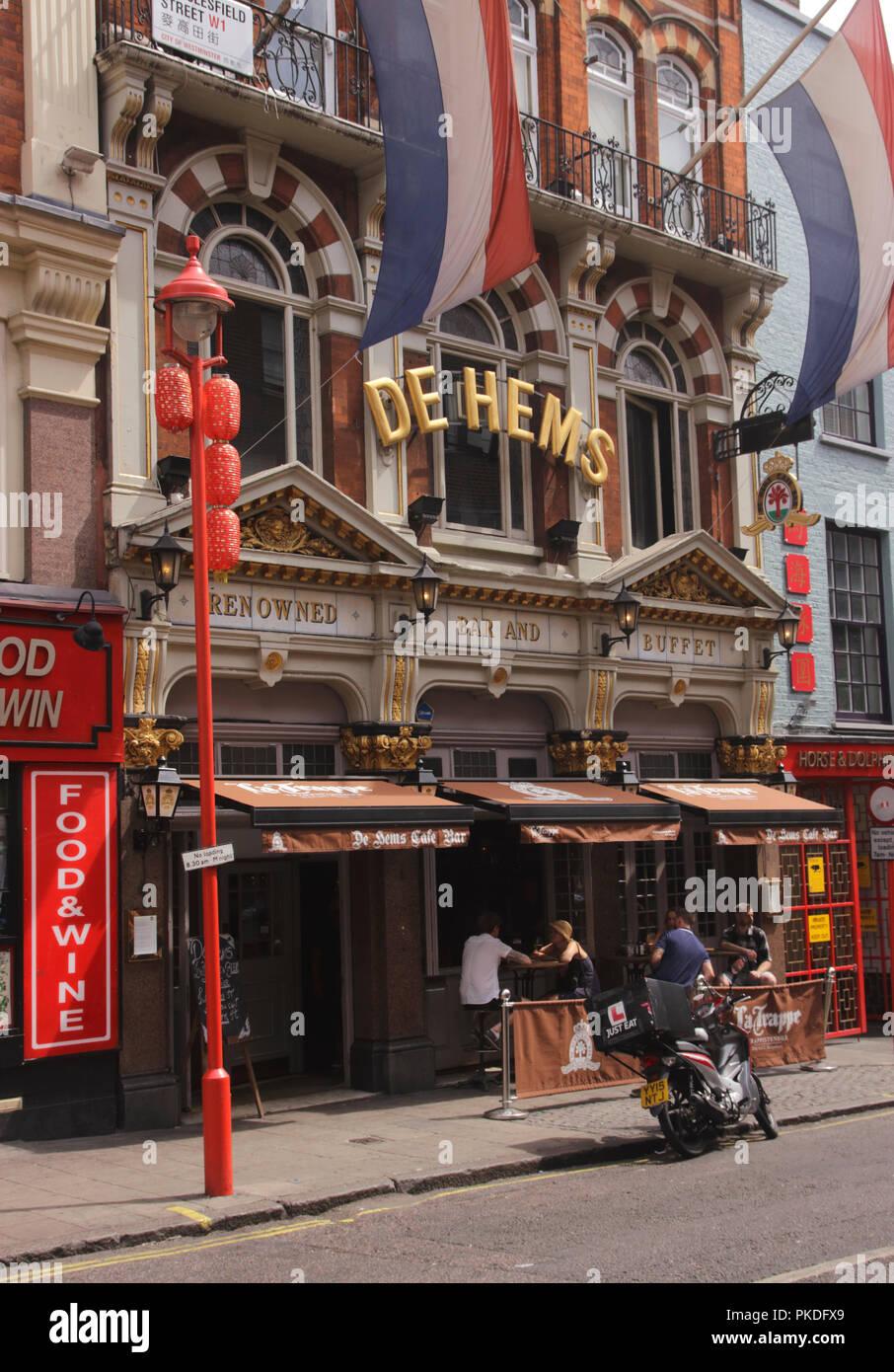 De Hems Dutch bar Macclesfield Street Soho London Stock Photo