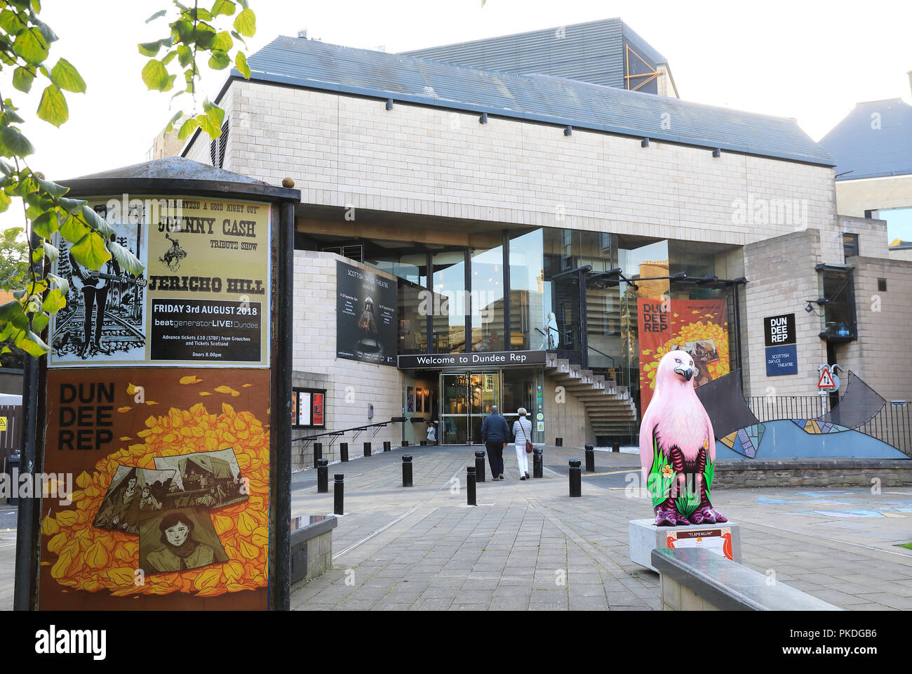 The Dundee Repertory Theatre, a world class, diverse and creative theatre and arts company in the city, on Tayside, Scotland, UK - Stock Image