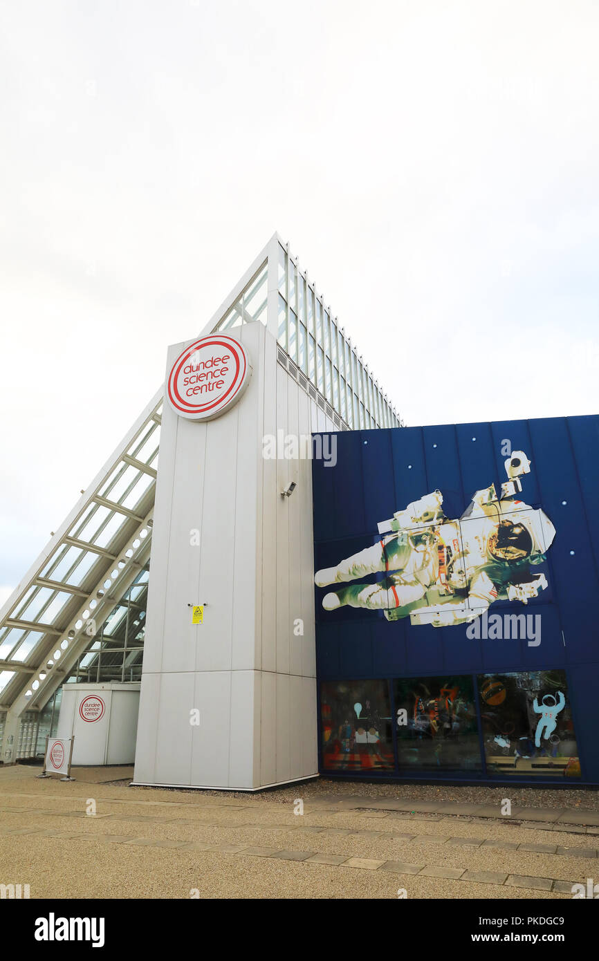 Dundee Science Centre, with exhibitions, shows and demonstrations for all the family, in Scotland, UK - Stock Image