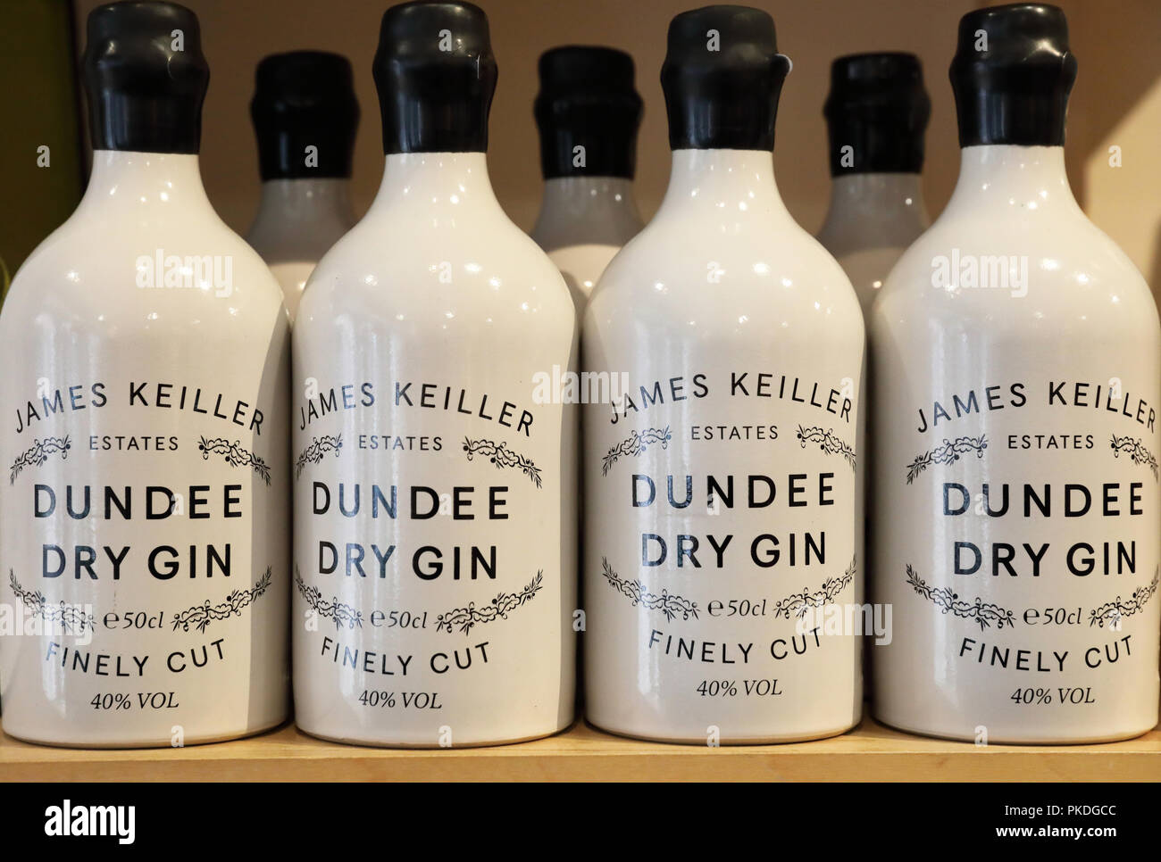 James Keiller estates Dundee Dry Gin for sale, in Scotland, UK - Stock Image