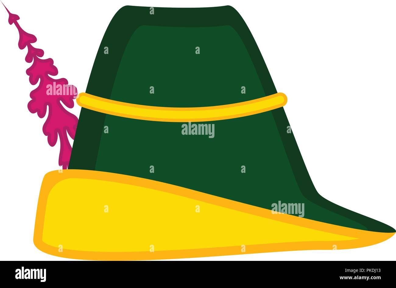 9c0802e09b4 Isolated traditional oktoberfest hat. Vector illustration design ...