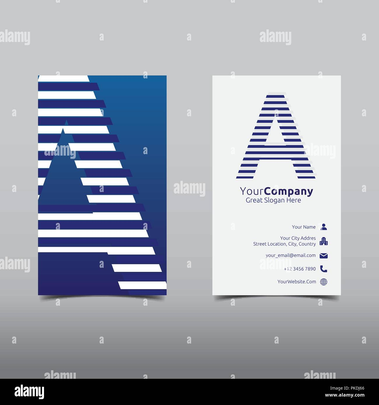 initial letter a logo cutting line design concept business name