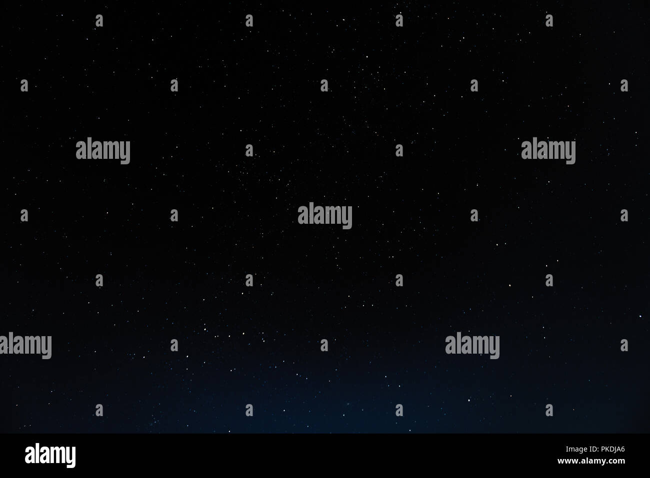 Night sky with stars and galaxy in outer space, universe background - Stock Image