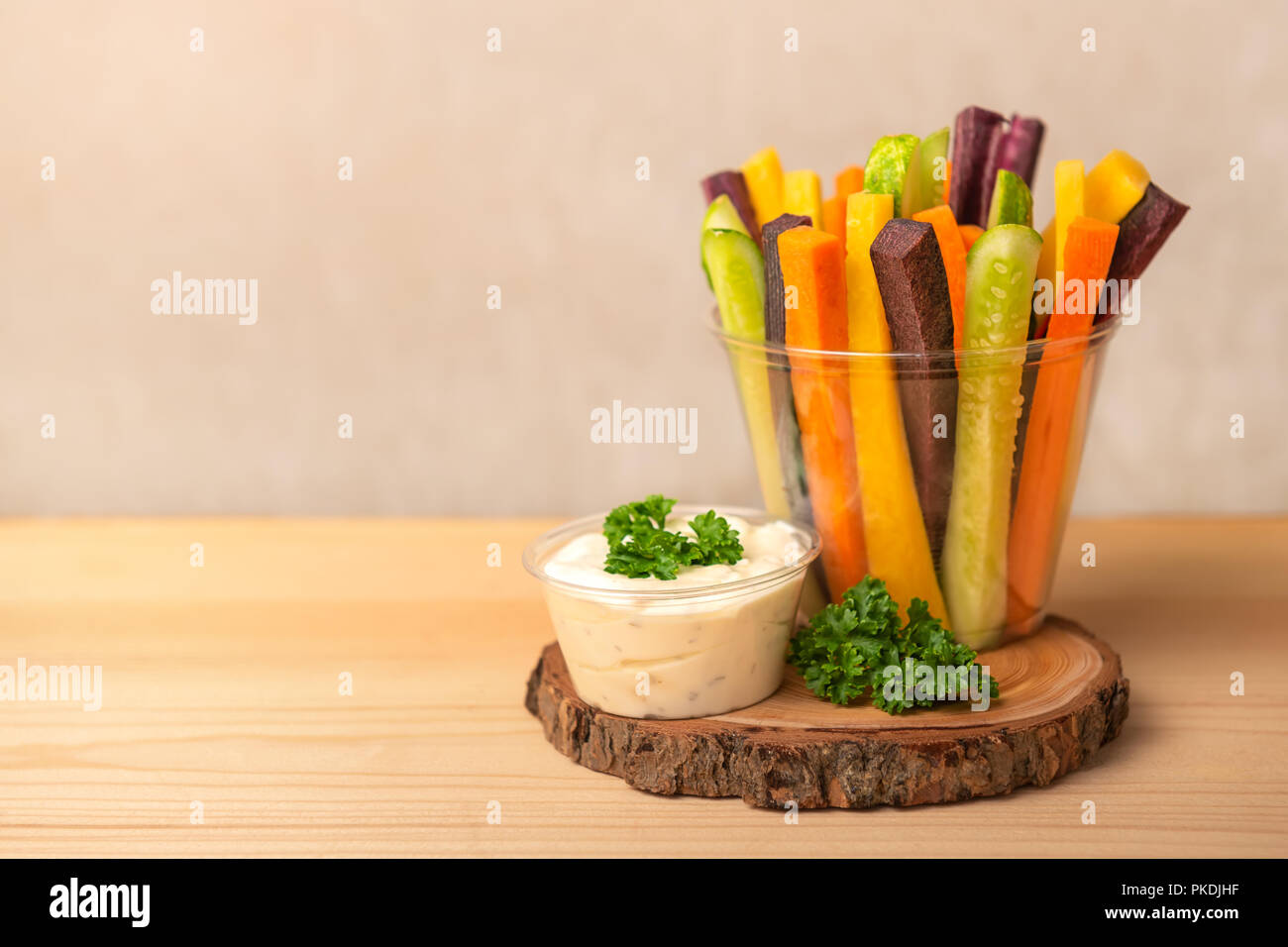 Colorful Carrots And Cucumbers Vegetables Julienned For Salad And