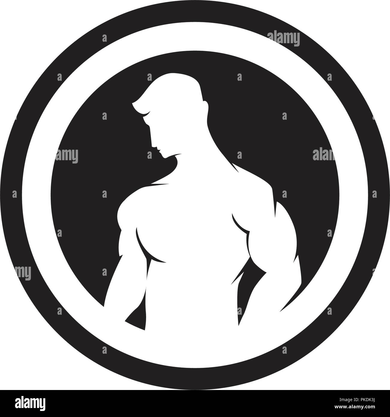 fd78c397930 Vector object and Icons for Sport Label, Gym Badge, Fitness Logo ...