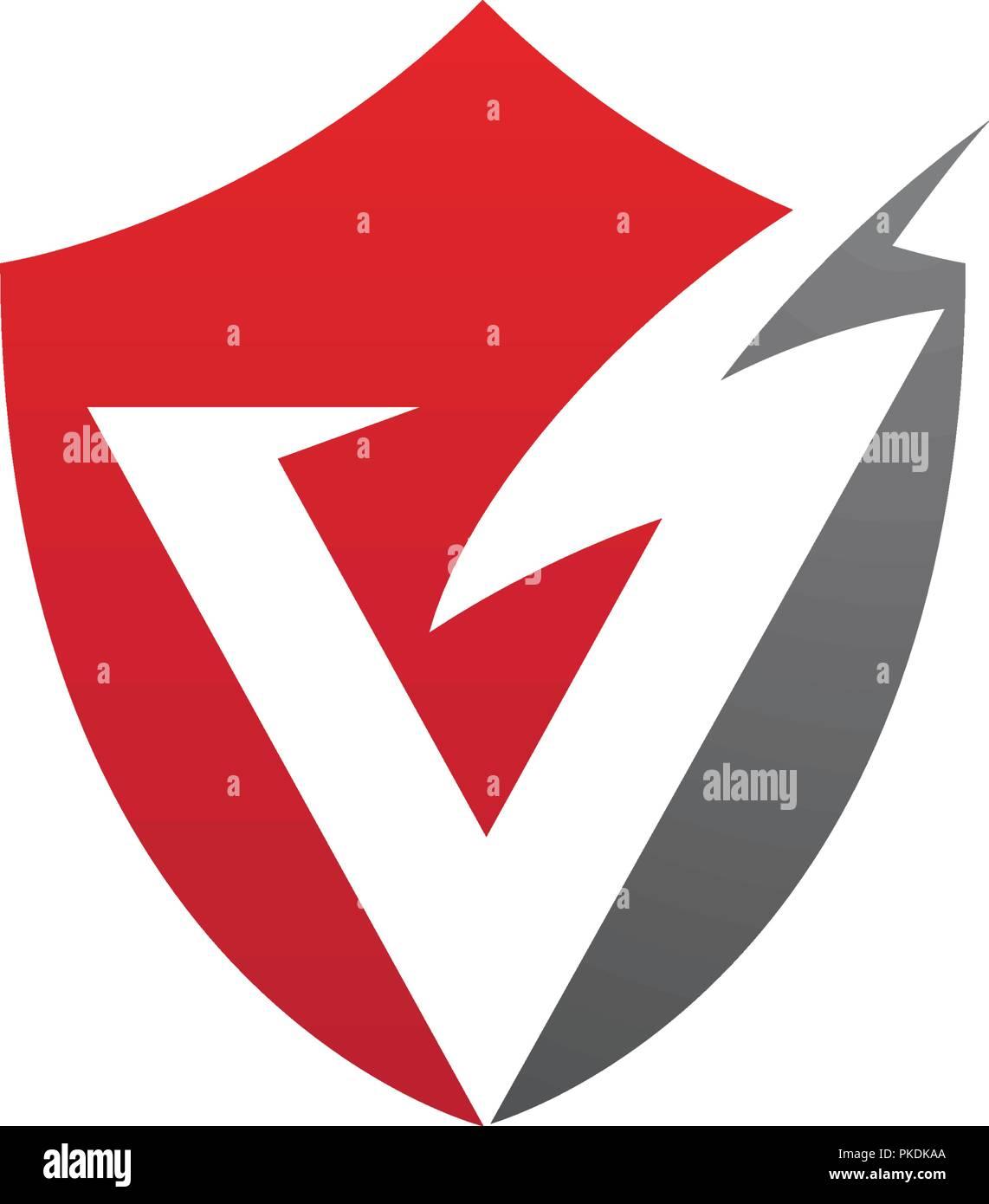 v letter lightning logo template vector icon illustration design