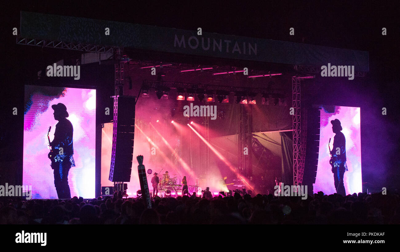 Canadian Band Metric performing at Skookum Music Festival in Stanley Park in Vancouver, BC on September 7th, 2018 - Stock Image
