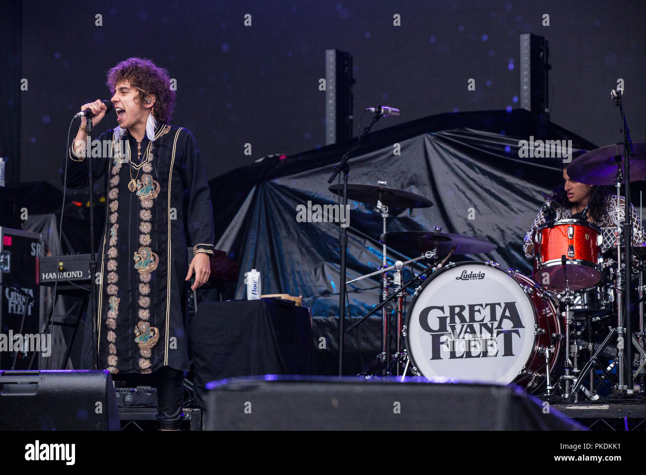 American band Greta Van Fleet performing at Skookum Music Festival in Stanley Park in Vancouver, BC on September 7th, 2018 Stock Photo