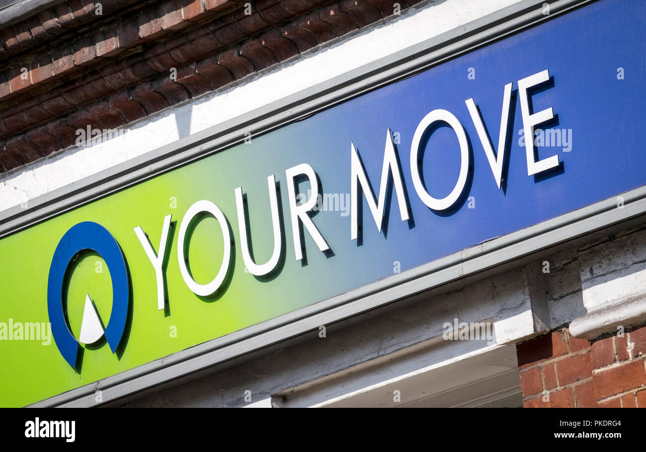 Your Move Estate Agent sign - Stock Image