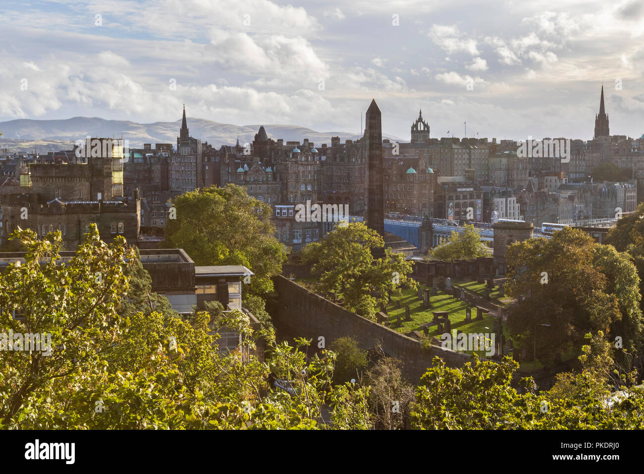 Political Martyrs Monument old calton hill burial ground Edinburgh, Scotland Stock Photo
