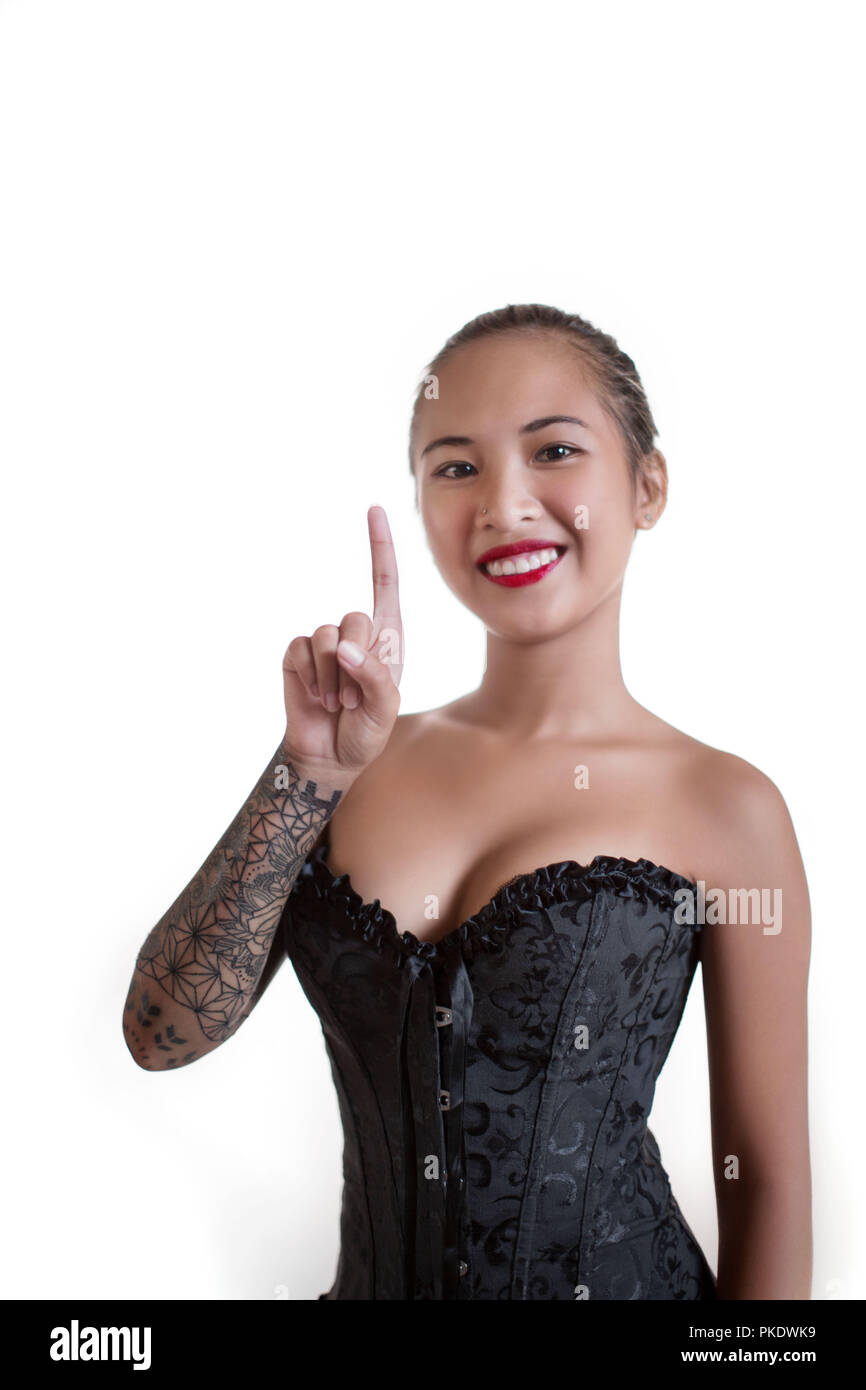22cfd1ad2c1 Black Corset Stock Photos   Black Corset Stock Images - Alamy