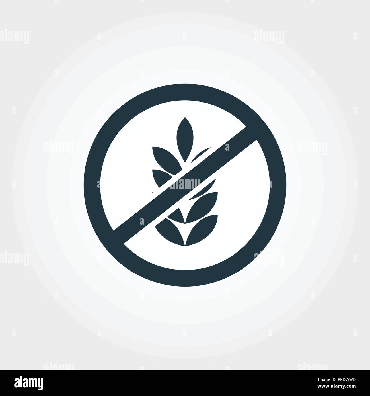 No Gluten icon  Monochrome style design from collection  UI