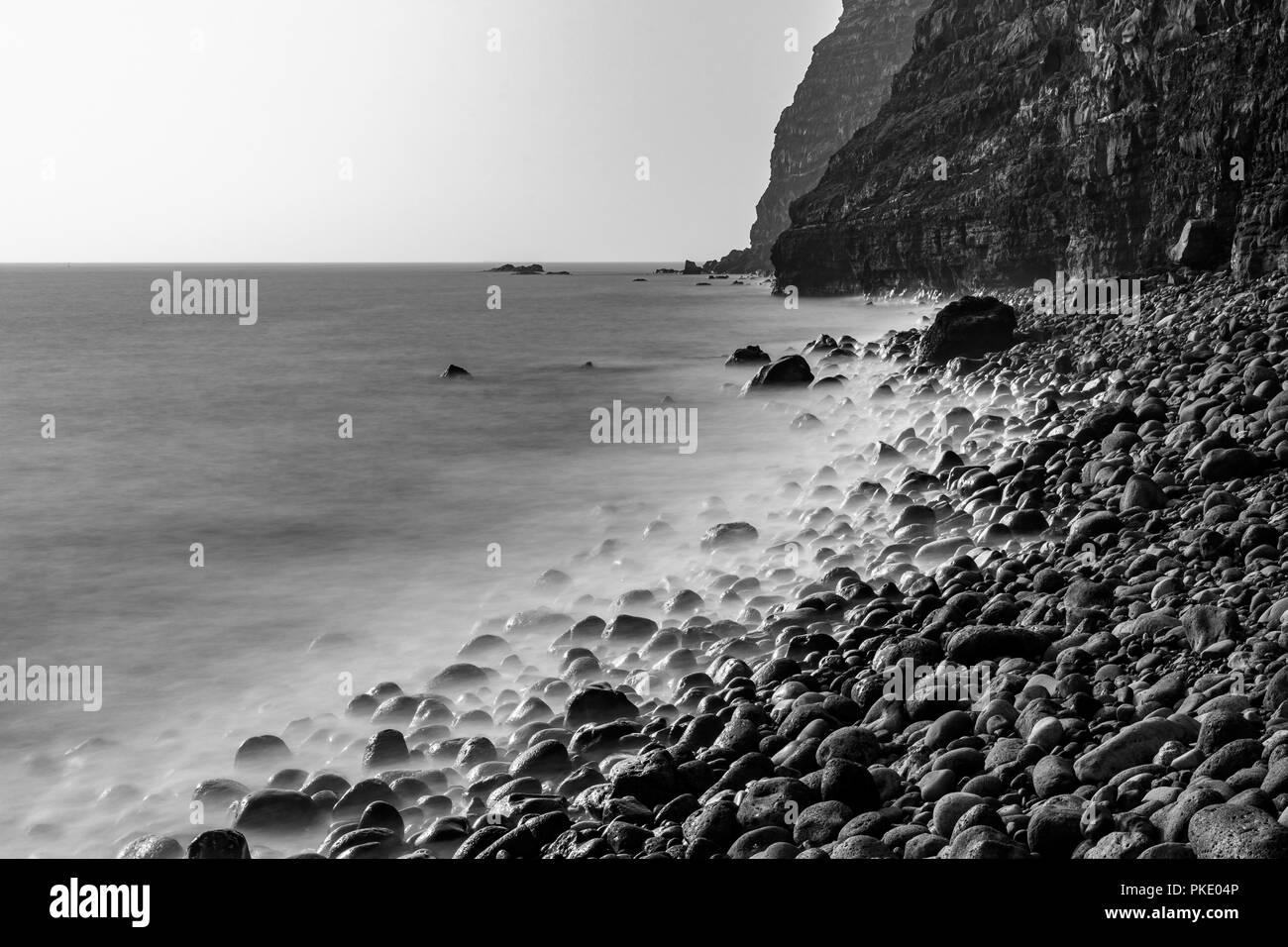 lava stone beach - Stock Image