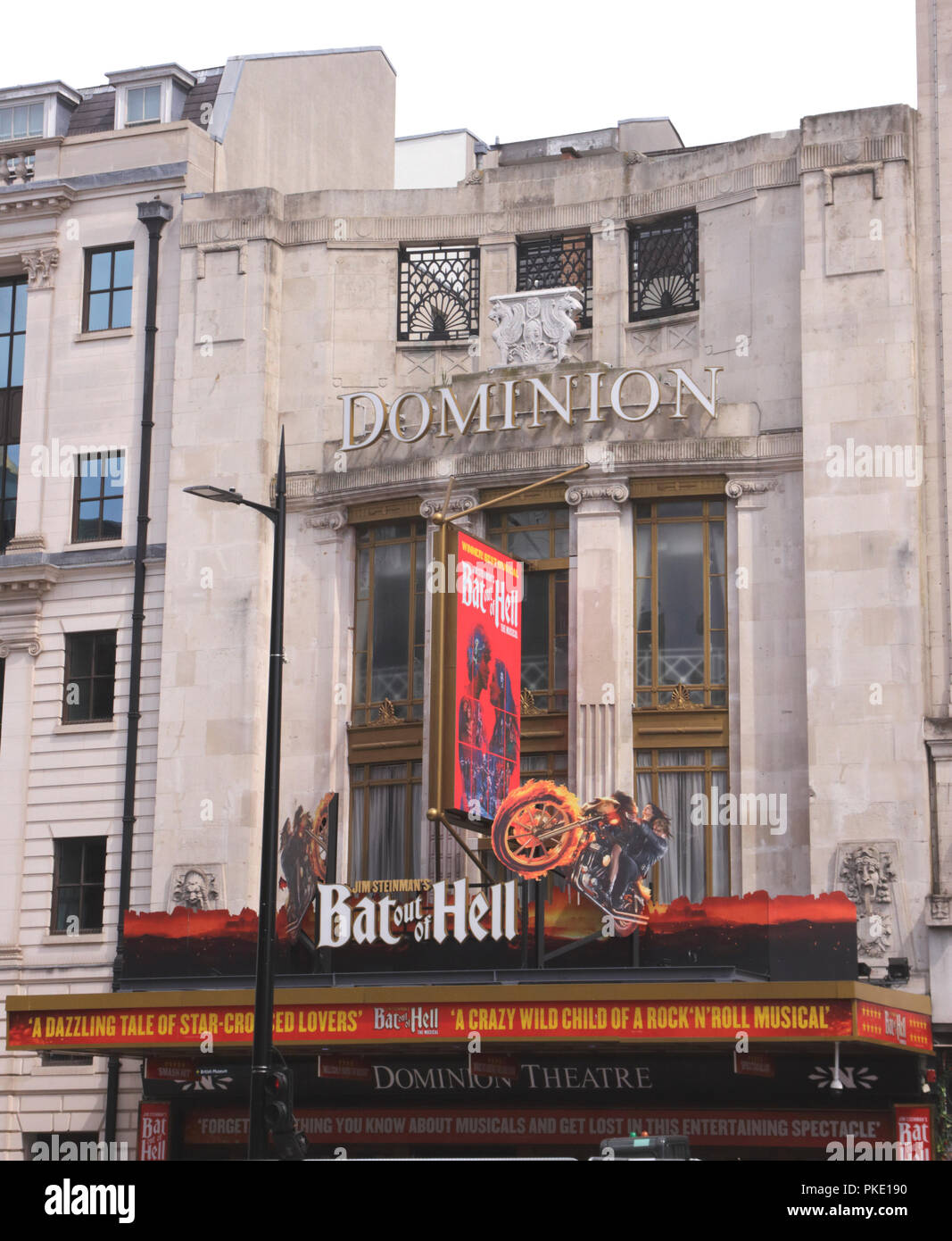 Bat Out of Hell showing at Dominion Theatre London August 2018 Stock Photo