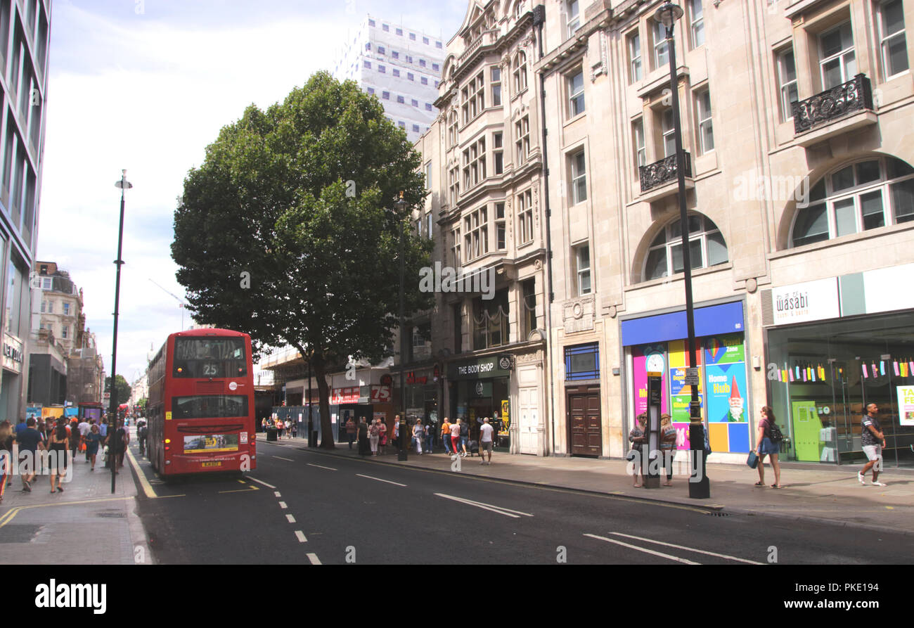 Oxford Street London August 2018 Stock Photo