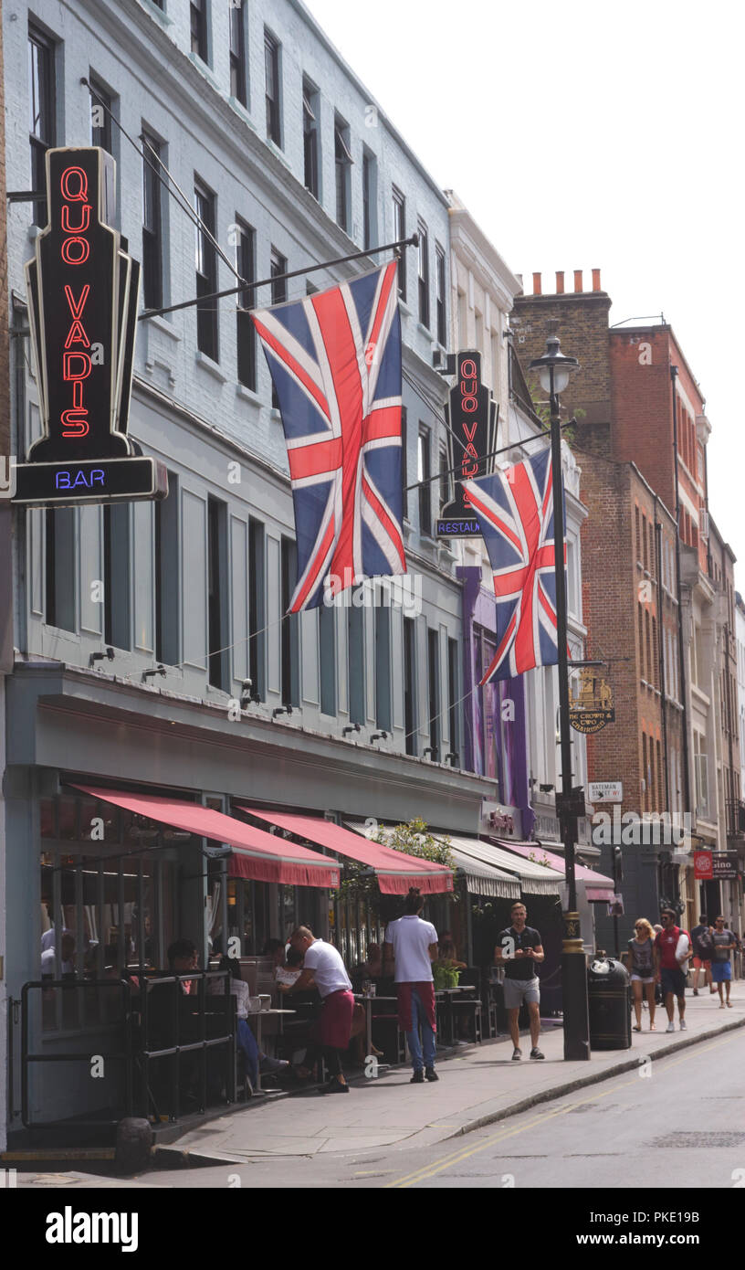 Quo Vadis restaurant Dean Street Soho London Stock Photo