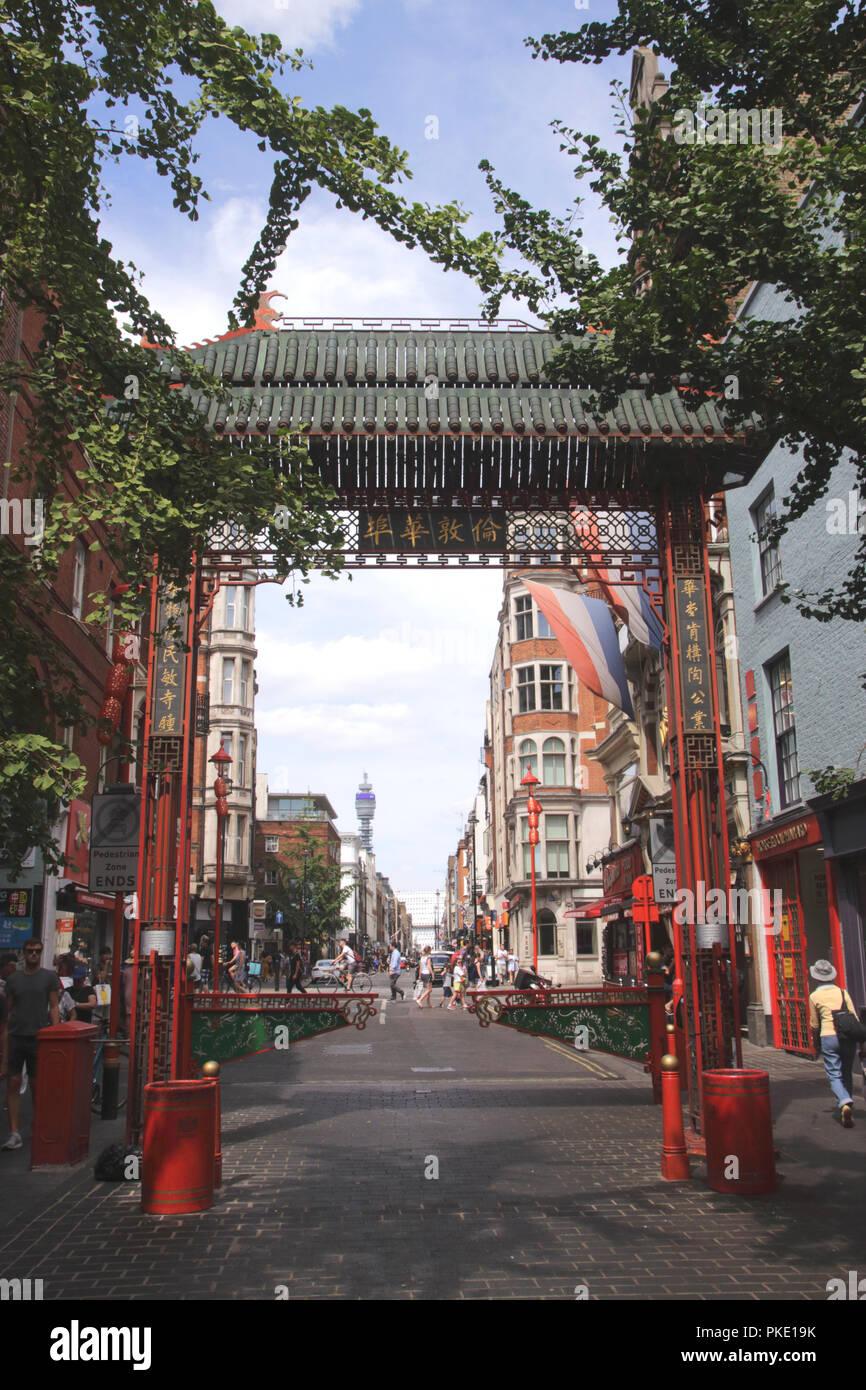 Chinatown Macclesfield Street Soho London Stock Photo