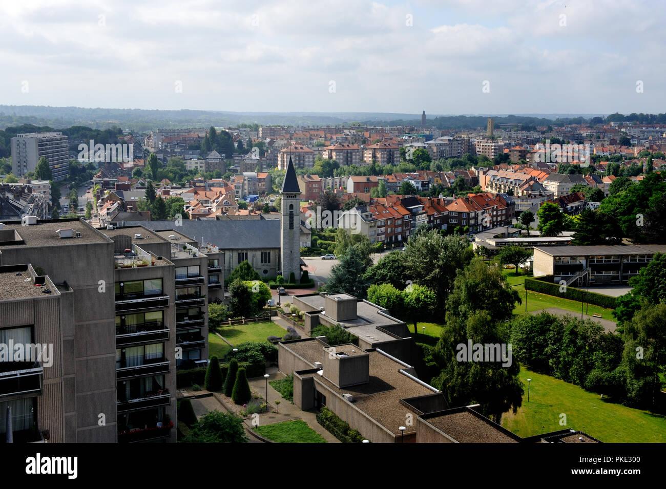 panoramic view over woluwe saint lambert sint lambrechts woluwe