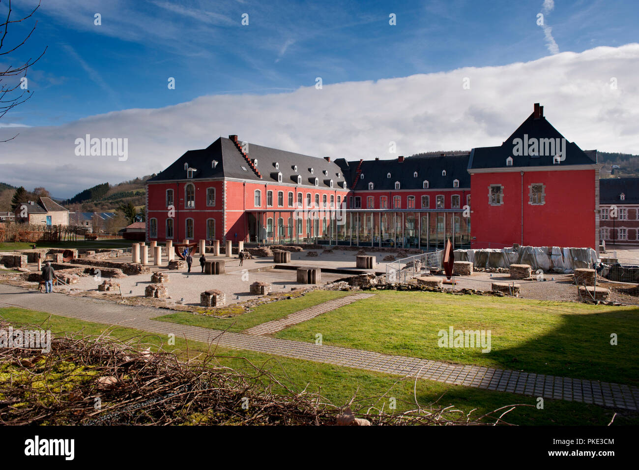 The Abbey of the Prince-Bishops of Stavelot in the Eastern Cantons (Belgium, 23/02/2014) Stock Photo
